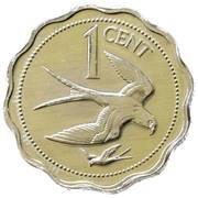 1 Cent - Elizabeth II (Swallow-tailed Kite) – reverse