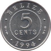 5 Cents - Elizabeth II (1st portrait) -  reverse
