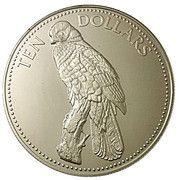 10 Dollars - Elizabeth II (Falcon) – reverse