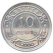 10 Cents - Elizabeth II (1st portrait) – reverse