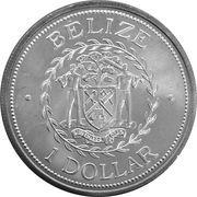 1 Dollar - Elizabeth II (Mayan King) – obverse