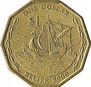 1 Dollar - Elizabeth II (3rd portrait) -  reverse