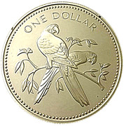 1 Dollar - Elizabeth II (Scarlet Macaws) – reverse