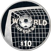 10 Dollars - Elizabeth II (World Cup 1994) – reverse