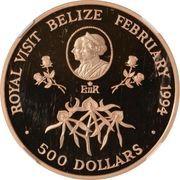 500 Dollars - Elizabeth II (Royal Visit) – reverse