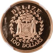 100 Dollars - Elizabeth II (Battle of St. George's Caye) -  obverse