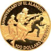 100 Dollars - Elizabeth II (El Alamein) -  reverse