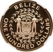 100 Dollars - Elizabeth II (White-tailed Savannah deer) – obverse