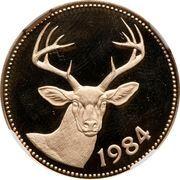 100 Dollars - Elizabeth II (White-tailed Savannah deer) – reverse