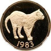 100 Dollars - Elizabeth II (Margay Jungle Cat) – reverse