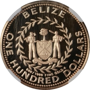 100 Dollars - Elizabeth II (Kinkajou) – obverse