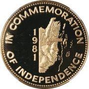 100 Dollars - Elizabeth II (Independence) -  reverse