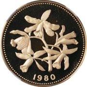 100 Dollars - Elizabeth II (Orchids) – reverse