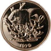 100 Dollars - Elizabeth II (Queen Angelfish) – reverse