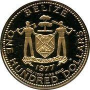 100 Dollars - Elizabeth II (Kinich Ahau) – obverse