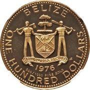 100 Dollars - Elizabeth II (Mayan symbols) – obverse