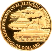 25 Dollars - Elizabeth II (Battle of El Alamein) – reverse