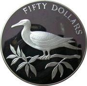 50 Dollars - Elizabeth II (Red-footed Booby) – reverse