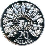 20 Dollars - Elizabeth II (United Nations) – reverse