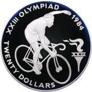 20 Dollars - Elizabeth II (Cycling) – reverse