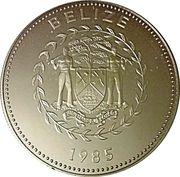 25 Cents - Elizabeth II (Blue-crowned Motmot; Silver Proof Issue) – obverse