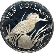 10 Dollars (Ringed Kingfisher) – reverse
