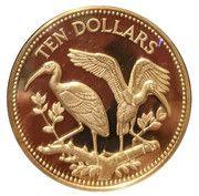 10 Dollars - Elizabeth II (Scarlet Ibis; Silver) – reverse