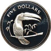 5 Dollars - Elizabeth II (Toucan) – reverse