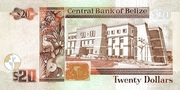 20 Dollars (30th Anniversary of the Central Bank of Belize) – reverse