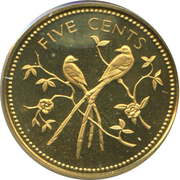 5 Cents - Elizabeth II (Fork-tailed Flycatchers) – reverse
