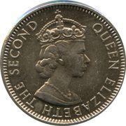 25 Cents - Elizabeth II (1st portrait; FAO) – obverse