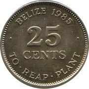 25 Cents - Elizabeth II (1st portrait; FAO) – reverse