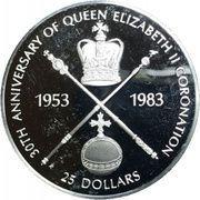 25 Dollars - Elizabeth II (Coronation) – reverse