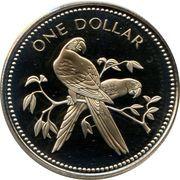 1 Dollar - Elizabeth II (Scarlet Macaw) – reverse