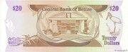 20 Dollars - Elizabeth II (Central Bank) – reverse