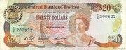 20 Dollars  - Elizabeth II (Central Bank; modified arms) – obverse