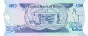 100 Dollars - Elizabeth II (Central Bank) – reverse