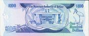 100 Dollars - Elizabeth II (Monetary Authority) – reverse