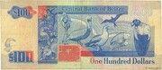 100 Dollars - Elizabeth II – reverse