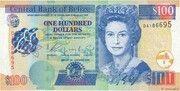 100 Dollars - Elizabeth II (With periwinkle flower) – obverse