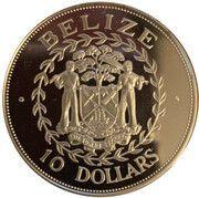 10 Dollars - Elizabeth II (10th Anniversary of Independence) – obverse
