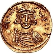 1 Solidus - Romoald II / In the name of Justinian II, 705-711 (Four steps) – obverse