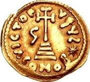 1 Solidus - Gregory / In the name of Justinian II, 705-711 (With star) – reverse