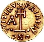 1 Tremissis - Arichis II, Prince – reverse