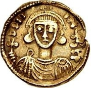 1 Solidus - Gottschalk / In the name of Justinian II, 705-711 – obverse