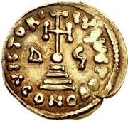 1 Solidus - Gottschalk / In the name of Justinian II, 705-711 – reverse