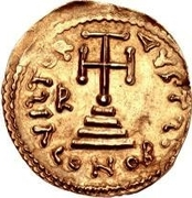 1 Solidus - Romoald II / In the name of Justinian II, 705-711 (Four steps) – reverse