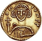 1 Solidus - Liutprand / In the name of Justinian II, 705-711 (Short cross) – obverse
