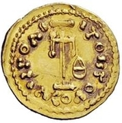 1 Tremissis - Anonymous / In the name of Constantine IV, 668-685 – reverse