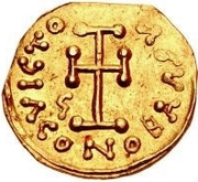 1 Tremissis - Gisulf I / In the name of Tiberius III, 698-705 – reverse